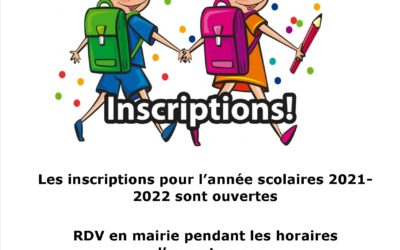 INSCRIPTION ÉCOLE 2021-2022
